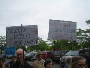 Protesting Bill C-38
